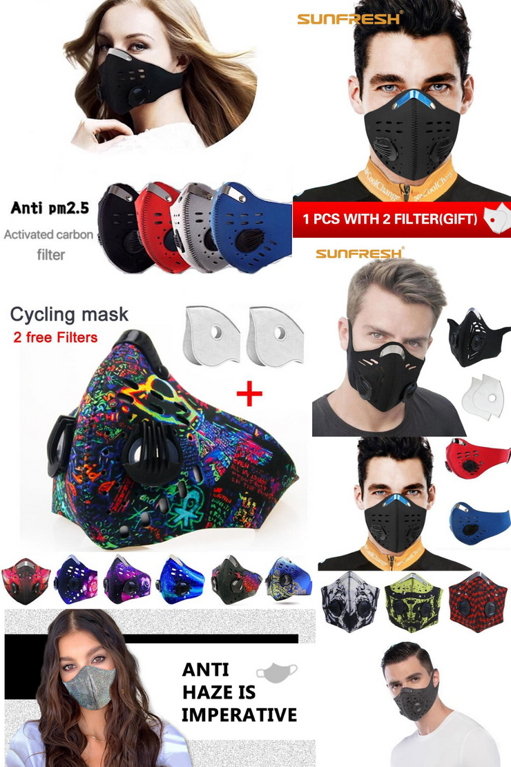 Washable, Reusable Anti-Viral and Bacterial M.A.S.K with N95 Filters and Double Respirators