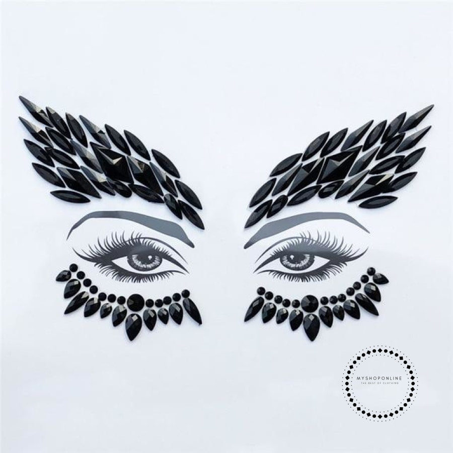 Adhesive Face Gems Festival Jewelry Temporary Face Jewels Stickers Party Body Rhinestone Flash Body Make Up Accessories - myshoponline.com
