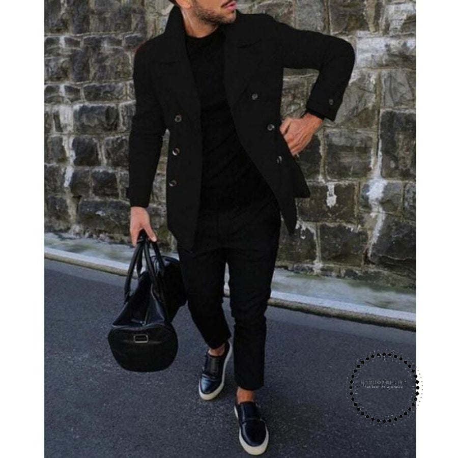 Autumn Winter Mens Jackets Coats Turn-Down Collar Jacket Street Style Slim Fit Outwear Mens Clothing Business Suits - myshoponline.com