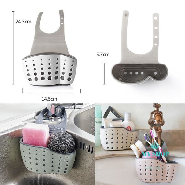 Babelin Useful Suction Cup Sink Shelf Soap Sponge Drain Rack Kitchen Sucker Storage Tool - myshoponline.com
