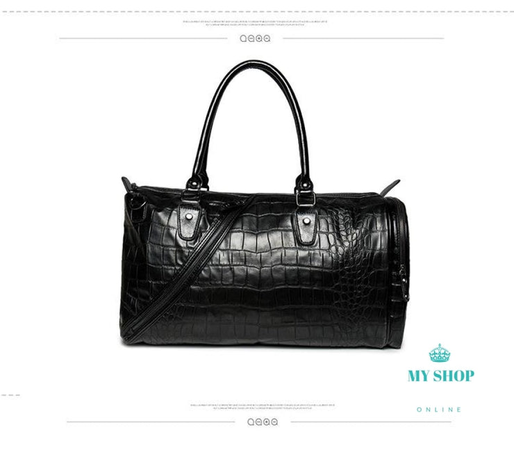 Bags Men Fashion light Weight Large Capacity Handbag Alligator Pattern pu Leather with belt - myshoponline.com