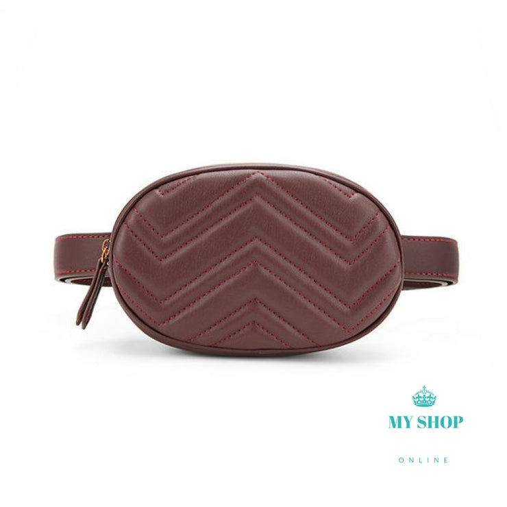 belt bag waist bag round fanny Pack women luxury brand leather handbag - myshoponline.com