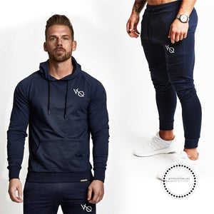 Best Gyms Men's Sets Fashion Sportswear Tracksuits /Men's Hoodies+Pants Casual Outwear Suits - myshoponline.com