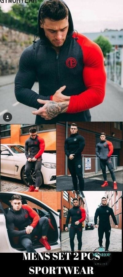 Best sporting suits mens fashion tracksuit men trainingspak survetement Men's Sportwear Suit Hoodies Tracksuit Set Male - myshoponline.com