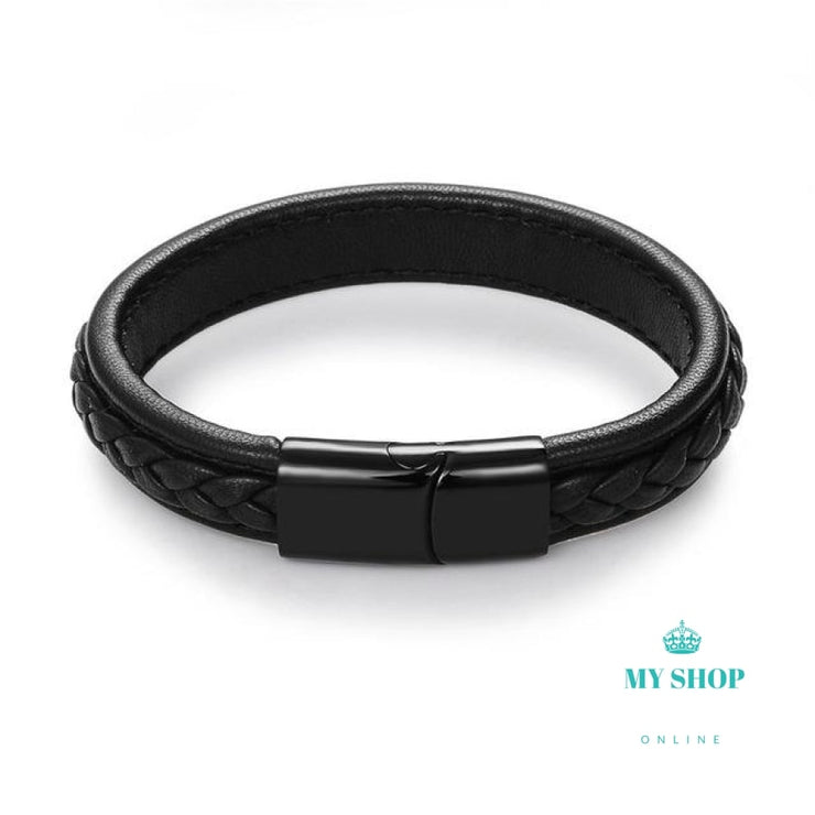 Binary Dual Braided Leather Bracelet - myshoponline.com