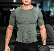Body posture shirt Gynecomastia Slimming belly Chest Binder boobs Shaper Abdomen Body Men Shaper Tshirt Waist Trainer Corset Top - myshoponline.com
