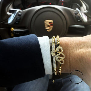 Bracelet Men/bead/stainless Steel/gold/luxury/bracelets For Men Jewelry