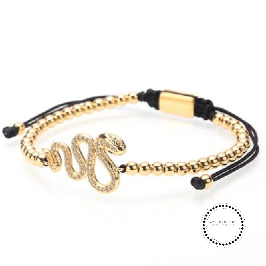 Bracelet Men/bead/stainless Steel/gold/luxury/bracelets For Men Jewelry Style K / 160Mm-250Mm