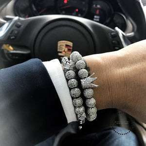 Bracelet Men/Luxury/Bracelet Hip Hop Rose Gold Cubic Micro Pave CZ Charm Braided Braiding Man Jewelry - myshoponline.com