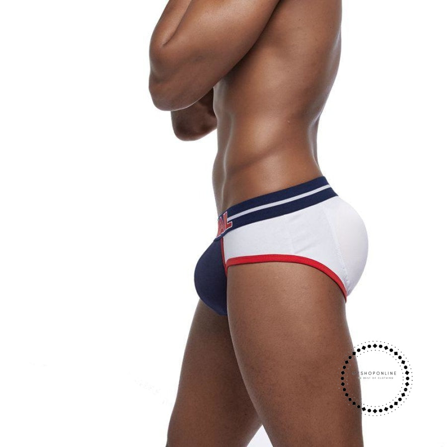 Brand Enhancing Mens Underwear Briefs Sexy Bulge Gay Penis pad Front + Back Magic buttocks Double Removable Push Up Cup - myshoponline.com