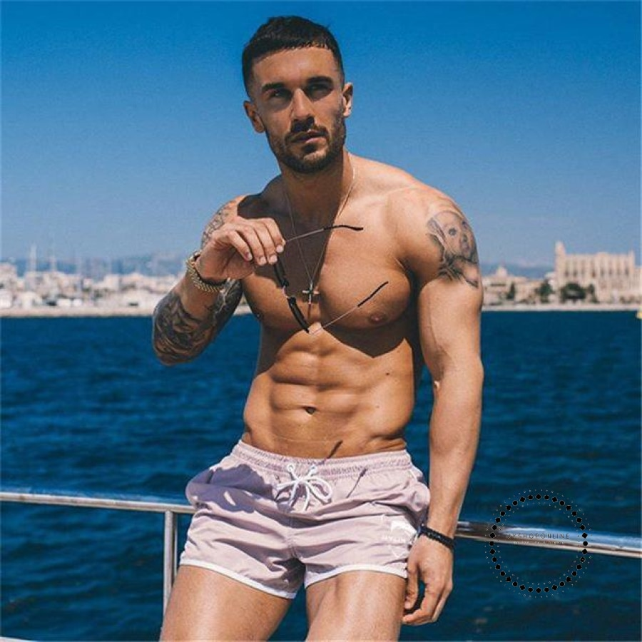 Brand Mens Active Trunks Workout Cargos Man Jogger Boxers Sweatpants Board Beach Shorts Men Short Bottoms Quick Drying - myshoponline.com