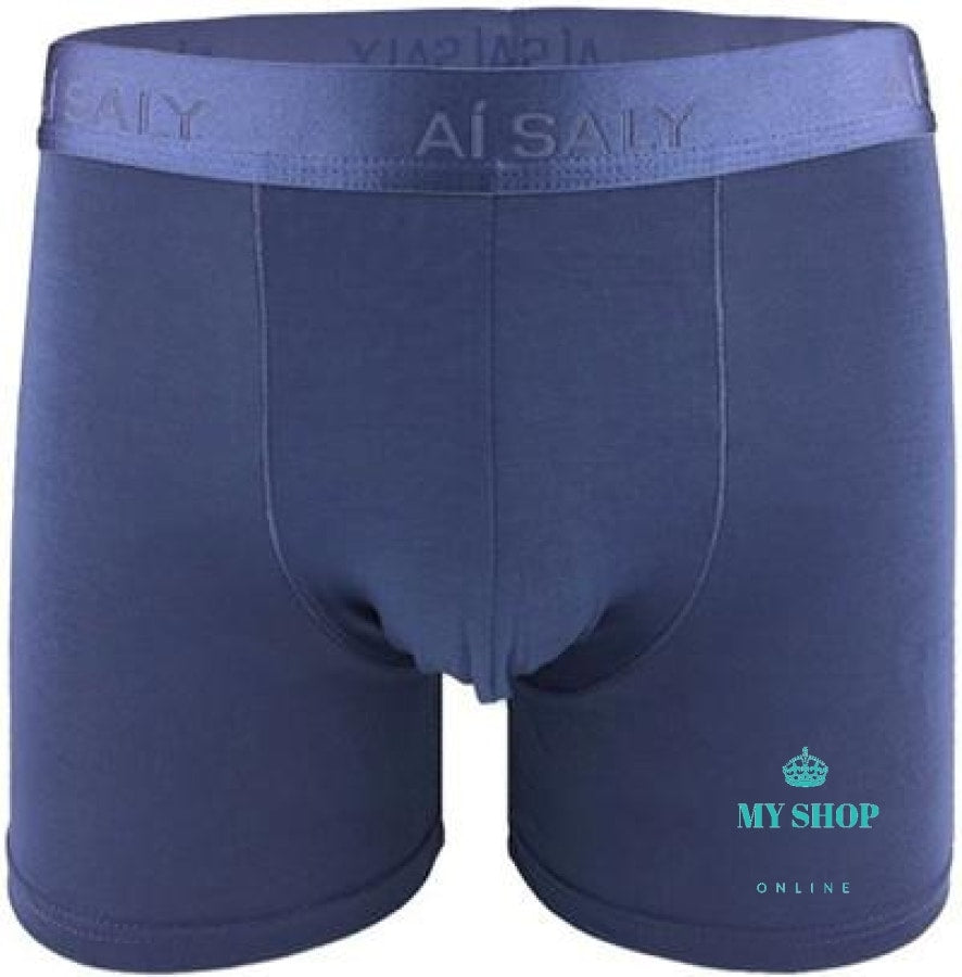 Casual Long Leg Mens Boxer Blue / L Hombres