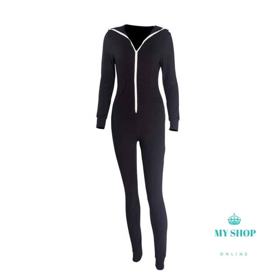 Casual Women One Piece Outfits Jumpsuits Long Sleeve - myshoponline.com