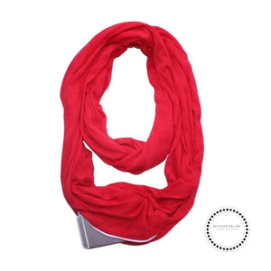 Convertible Infinity Scarf With Pocket Pattern Zipper All-Match Fashion Women Scarves