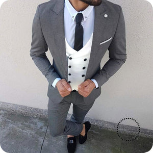 2ac767d640 Custom Made 3 Pcs Suit Men Blazer Wedding Men Suit With Pants Double ...