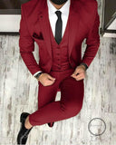 Dark green Men Blazer Prom Suit Outfits for Graduation ,Wedding Suit Three Pieces (Jacket+pants+vest) - myshoponline.com