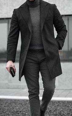 Mens Winter Long Trench Coat Coat