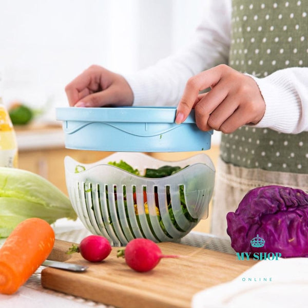 Edenware Upgraded Salad Cutter Bowl Blue Accesorios