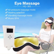 Electric Dc Vibration Eye Massager Machine Music Magnetic Air Pressure Infrared Heating Massage