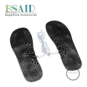 Electric Insole Foot Relief Massage Pads Arch Orthotics Stimulator Insoles Rechargeable Relax