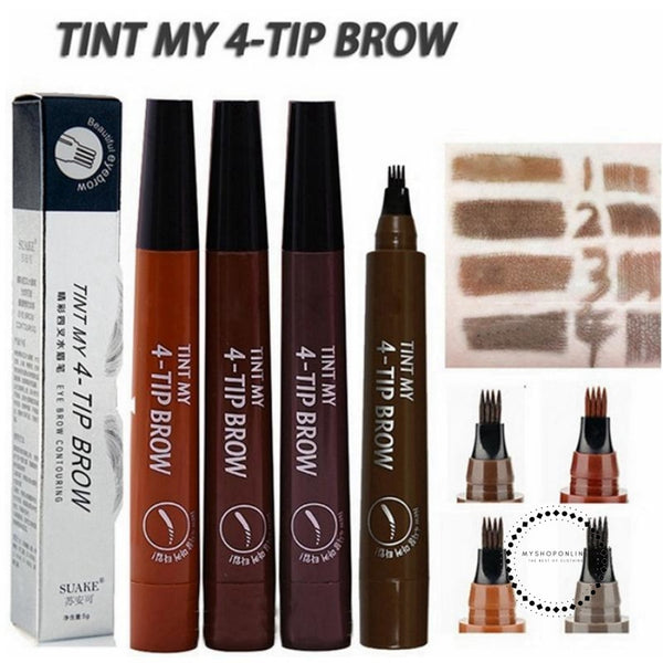 Eyebrow Pen Waterproof Fork Tip Tattoo Pencil Long Lasting Professional Fine Sketch Liquid Eye Brow