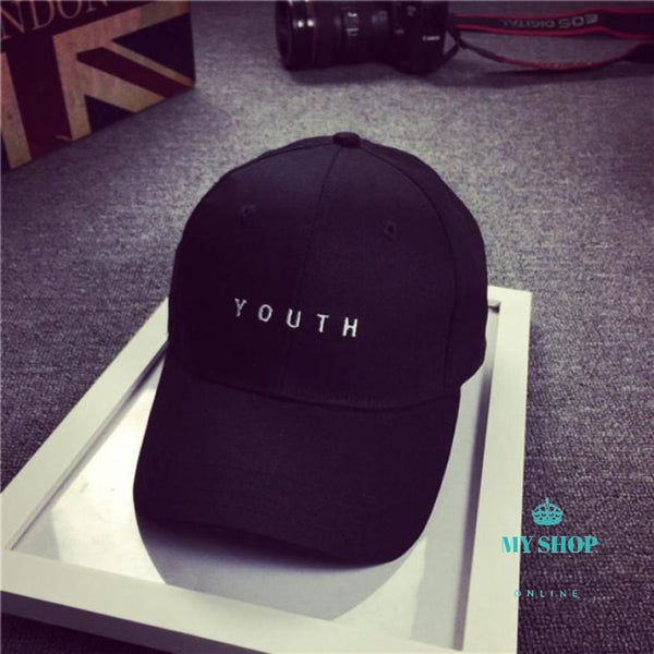 Fashion Cap Women Men Summer Spring Cotton Caps Letter Solid Adult Baseball Black White Hat Snapback