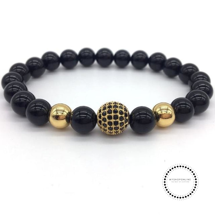 Fashion Geometric Bracelets Men Classic Stone Bead Charm & Bangles For Jewelry Gift 10