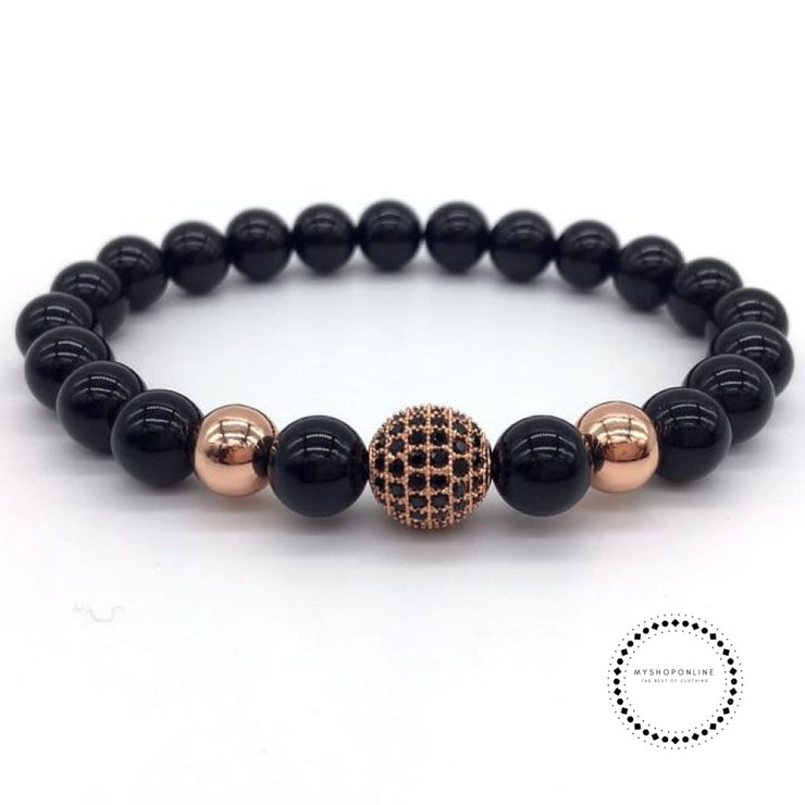 Fashion Geometric Bracelets Men Classic Stone Bead Charm & Bangles For Jewelry Gift 11