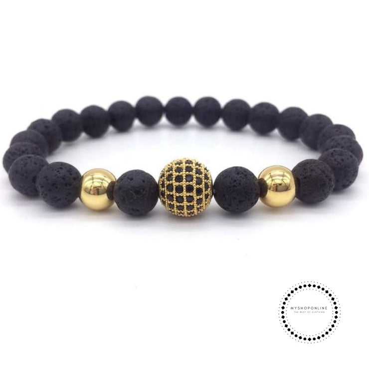 Fashion Geometric Bracelets Men Classic Stone Bead Charm & Bangles For Jewelry Gift 2