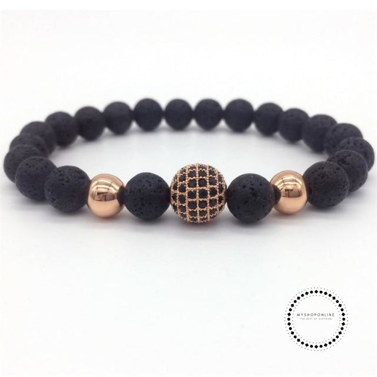 Fashion Geometric Bracelets Men Classic Stone Bead Charm & Bangles For Jewelry Gift 3