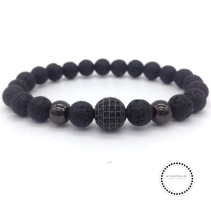 Fashion Geometric Bracelets Men Classic Stone Bead Charm & Bangles For Jewelry Gift 4