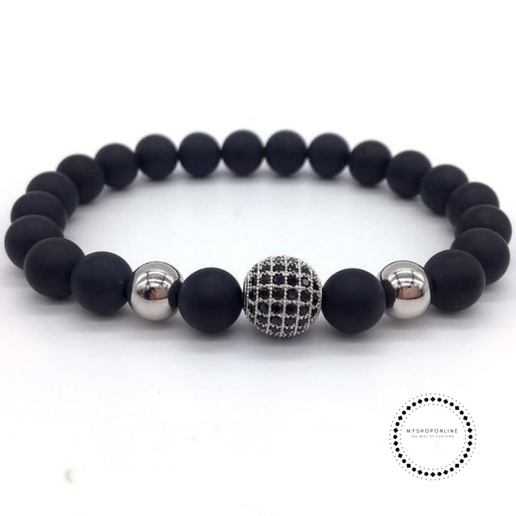 Fashion Geometric Bracelets Men Classic Stone Bead Charm & Bangles For Jewelry Gift 5