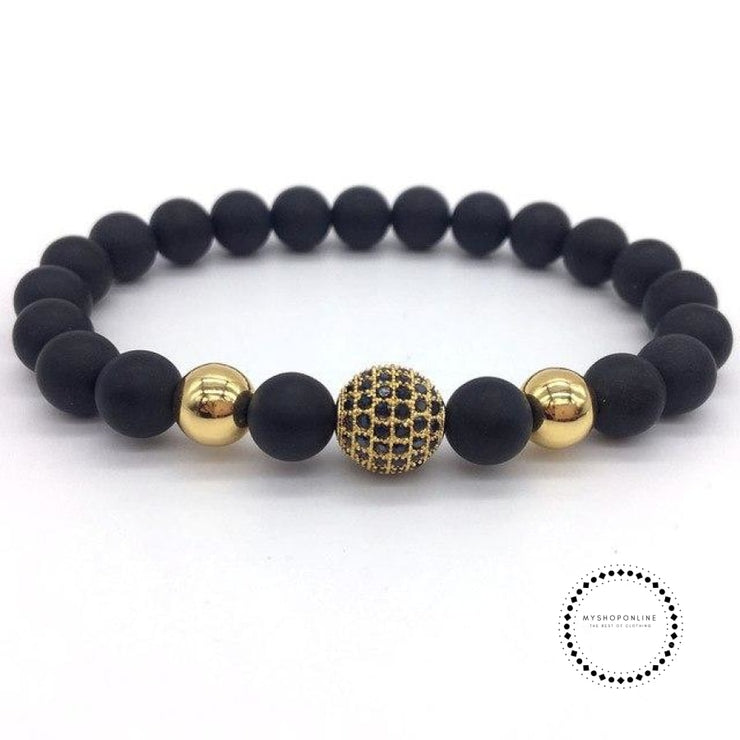 Fashion Geometric Bracelets Men Classic Stone Bead Charm & Bangles For Jewelry Gift 6