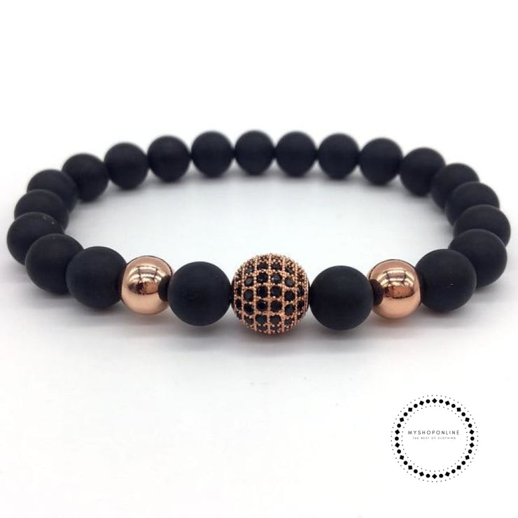 Fashion Geometric Bracelets Men Classic Stone Bead Charm & Bangles For Jewelry Gift 7