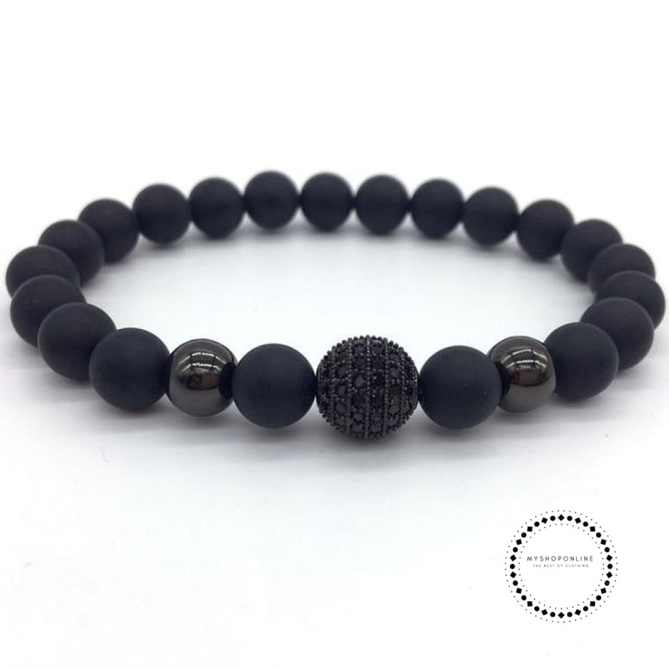 Fashion Geometric Bracelets Men Classic Stone Bead Charm & Bangles For Jewelry Gift 8