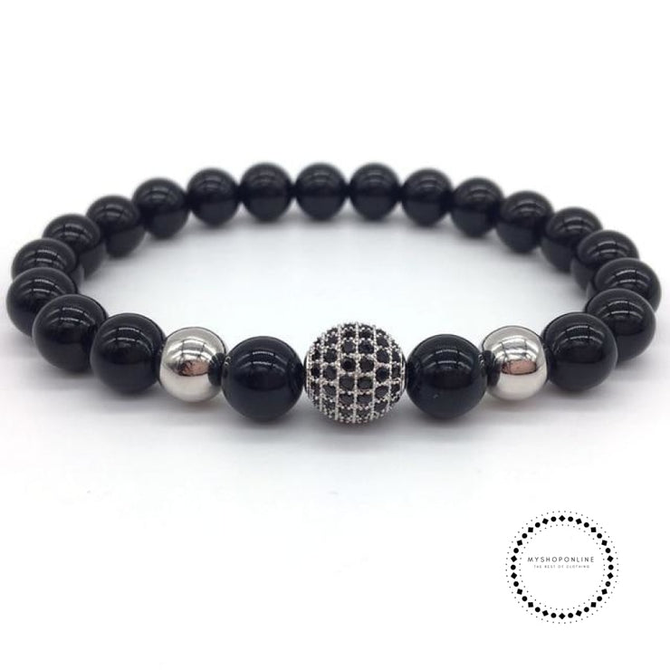 Fashion Geometric Bracelets Men Classic Stone Bead Charm & Bangles For Jewelry Gift 9