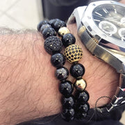 Fashion Geometric Bracelets Men Classic Stone Bead Charm & Bangles For Jewelry Gift