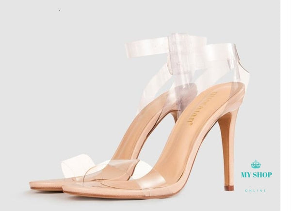 Fashion Transparent Gladiator Shoes Celebrity As Shown / 5 Accesorios