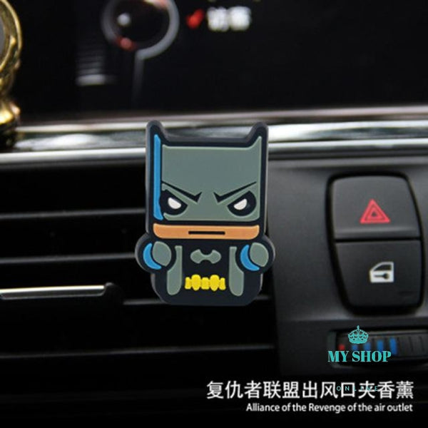 For Marvel Avengers Heros Figure Car Air Condition Vent Perfume Balsam Fragrance Accesorios