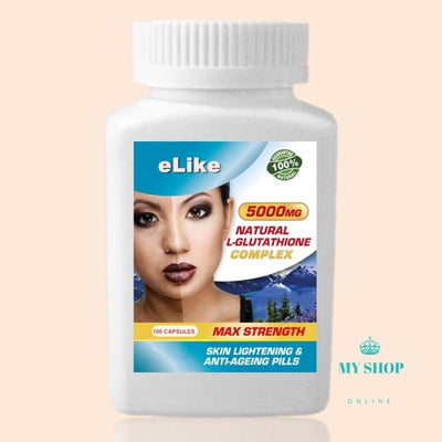Glutathione Complex 5000Mg Natural Skin Lightening Whitening Anti-Ageing Accesorios