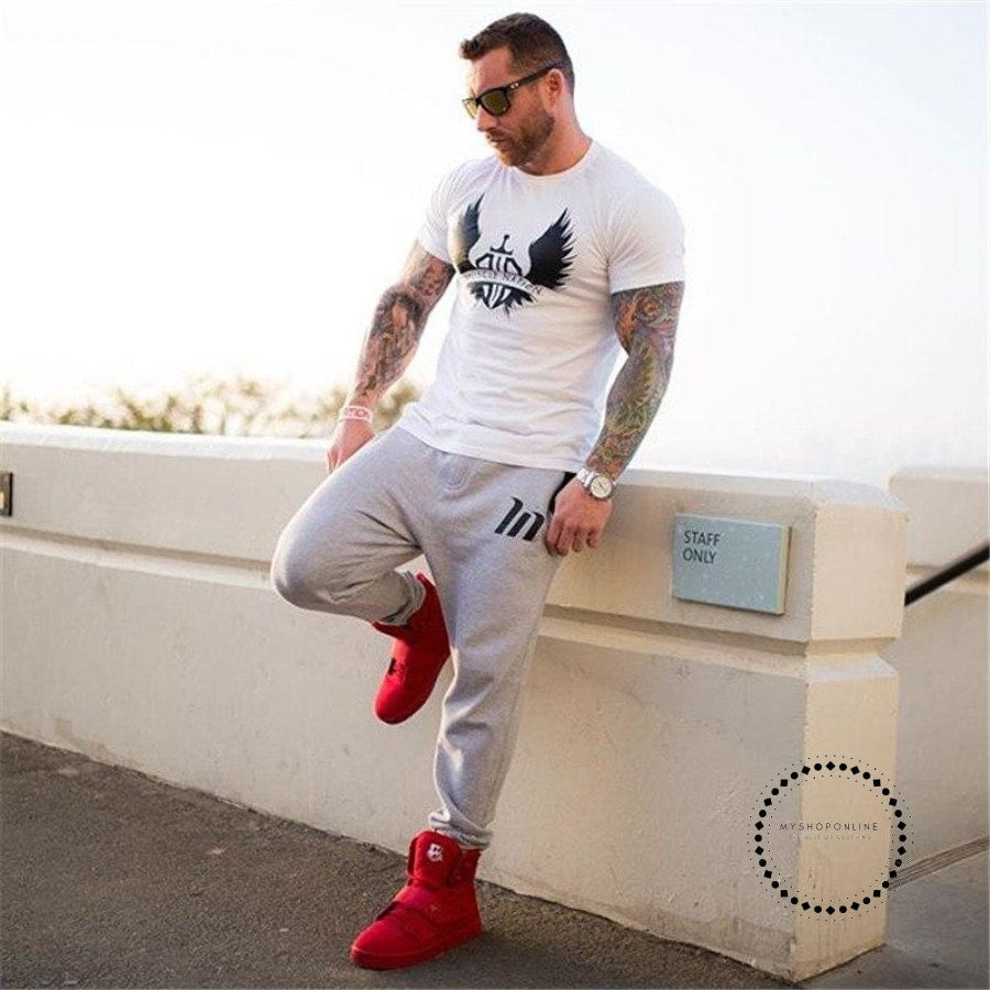 Gyms Men Free Musclena Brand Marvel Tops Tees Top Quality Cotton Short Sleeves Casual Tshirt Marvel