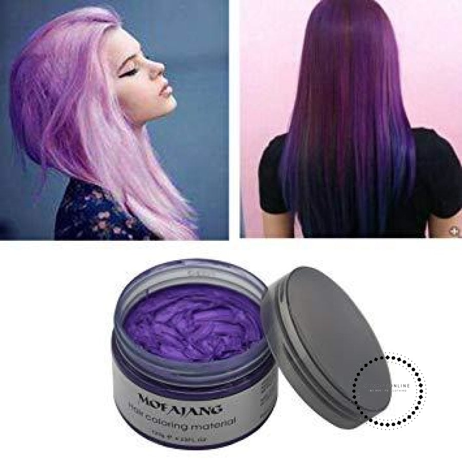 Hair Color Wax Professional Hair Dye Gel Mud for Men Women ...
