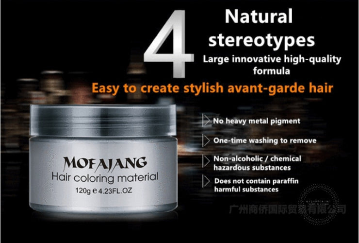 Hair Color Wax Professional Dye Gel Mud For Men Women Accesorios