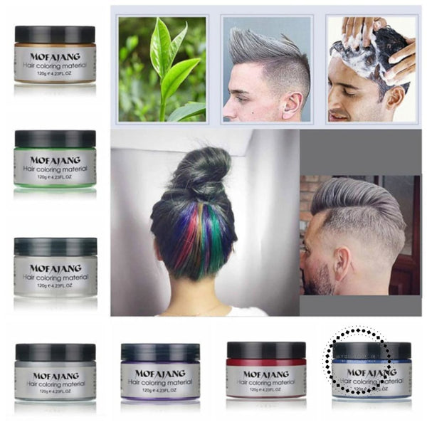 Hair Color Wax Professional Hair Dye Gel Mud for Men Women