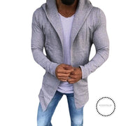 Hoodie For Mens Casual Solid Color Cardigan Slim Fit Hoodies Cotton Jacket Coat