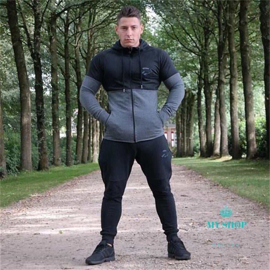 Hoodies Men Brand Male Long Sleeve Hoodie Splicing Sweatshirt Mens Slim Tracksuit Accesorios