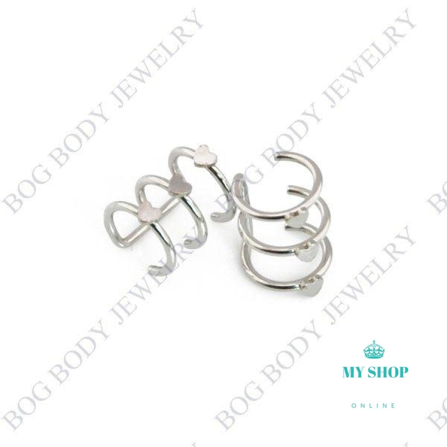 Illusion Captive Bead Rings Fake Cartilage Clip-On Ring Accesorios