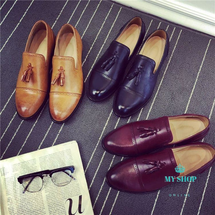 Loafers Men Flat Shoes Moccasins Wedding Leather Casual Accesorios