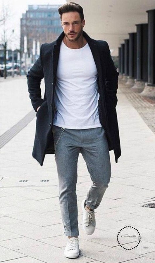 Long Sleeve Loose Overcoat Jacket Trench Coat