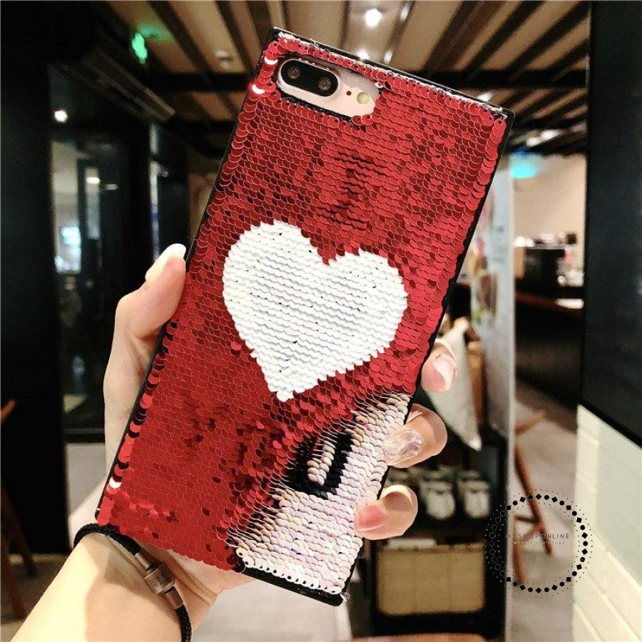 Luxury Blinking Sequin Eyes Phone Case For Iphone X Xs 7 8 6S Plus Magic Changing Pattern Color Toys